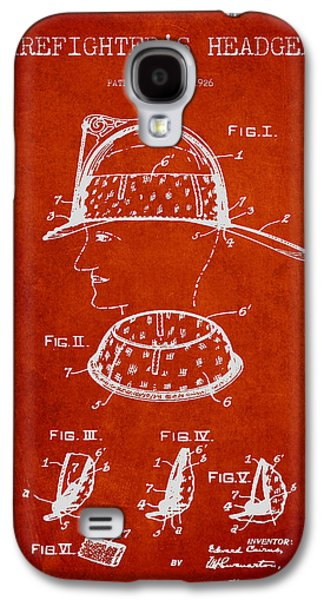Gear Digital Galaxy S4 Cases - Firefighter Headgear Patent drawing from 1926 Galaxy S4 Case by Aged Pixel