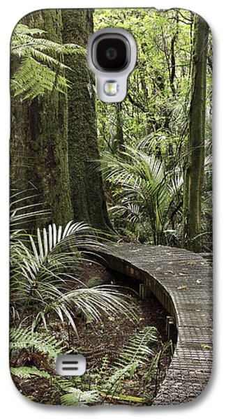 Pathways Galaxy S4 Cases - Forest boardwalk Galaxy S4 Case by Les Cunliffe