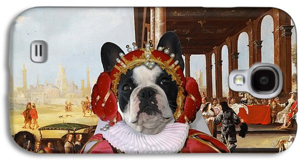 French Bulldog Art Canvas Print Galaxy S4 Case by Sandra Sij