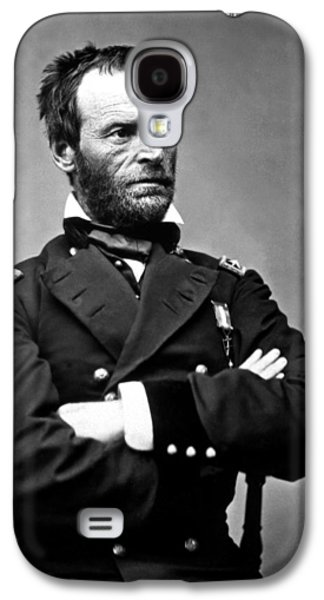 Leaders Galaxy S4 Cases - General William Tecumseh Sherman Galaxy S4 Case by War Is Hell Store