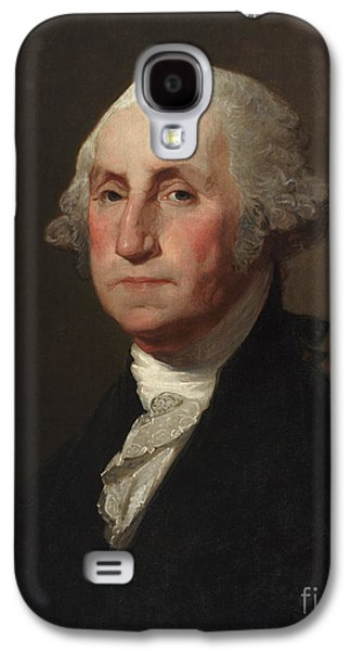 Posters On Paintings Galaxy S4 Cases - George Washington Galaxy S4 Case by Gilbert Stuart