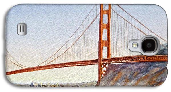 Famous Bridge Galaxy S4 Cases - Golden Gate Bridge San Francisco Galaxy S4 Case by Irina Sztukowski