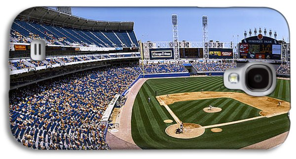 Sports Photographs Galaxy S4 Cases - High Angle View Of A Baseball Stadium Galaxy S4 Case by Panoramic Images