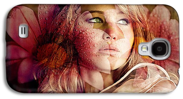 Flowers Galaxy S4 Cases - Jennifer Lawrence Galaxy S4 Case by Marvin Blaine