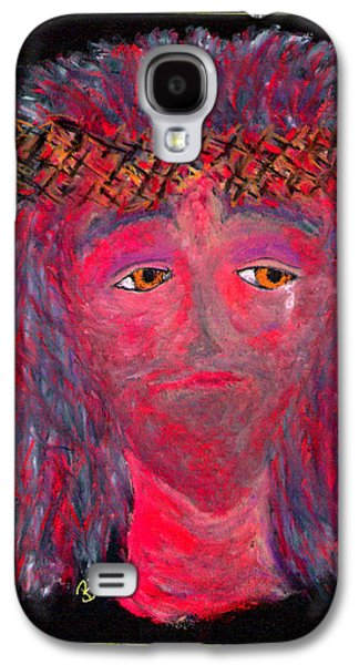 Jesus Pastels Galaxy S4 Cases - Jesus Crown Of Thorns Galaxy S4 Case by Lyn Blore Dufty
