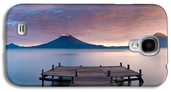 Jetty In A Lake With A Mountain Range Galaxy S4 Case by Panoramic Images
