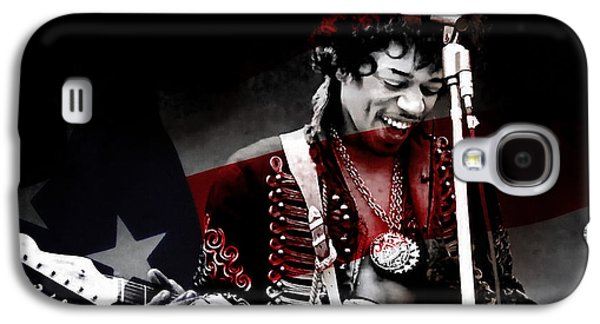 Jimi Hendrix Galaxy S4 Cases - Jimi Hendrix Galaxy S4 Case by Marvin Blaine