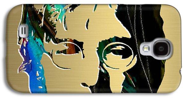 Beatles Galaxy S4 Cases - John Lennon Gold Series Galaxy S4 Case by Marvin Blaine