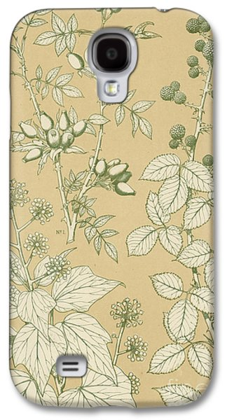 Leaf Drawings Galaxy S4 Cases - Leaves from Nature Galaxy S4 Case by English School