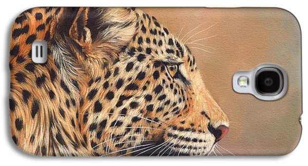 Leopard Galaxy S4 Case by David Stribbling