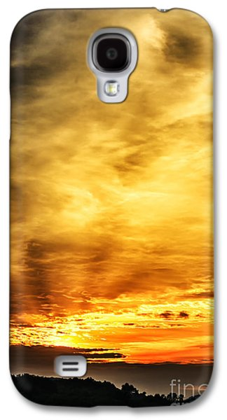 Colorful Cloud Formations Galaxy S4 Cases - Light Breaks Through Galaxy S4 Case by Thomas R Fletcher