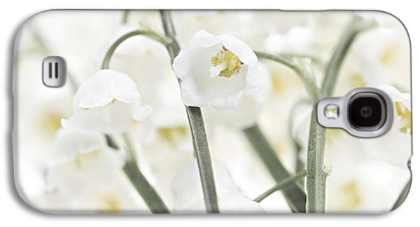 Cutouts Galaxy S4 Cases - Lily-of-the-valley flowers  Galaxy S4 Case by Elena Elisseeva