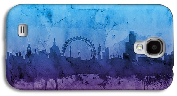 England Galaxy S4 Cases - London England Skyline Galaxy S4 Case by Michael Tompsett