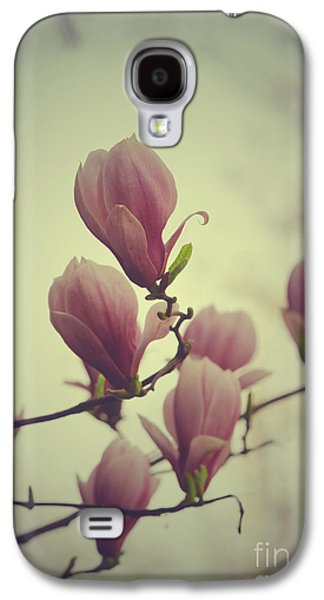 Print Pyrography Galaxy S4 Cases - Magnolia Galaxy S4 Case by Jelena Jovanovic