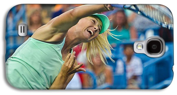 Sharapova Galaxy S4 Cases - Maria Sharapova Galaxy S4 Case by David Long