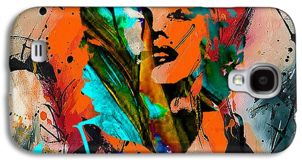 Portrait Galaxy S4 Cases - Marilyn Monroe Painting Galaxy S4 Case by Marvin Blaine