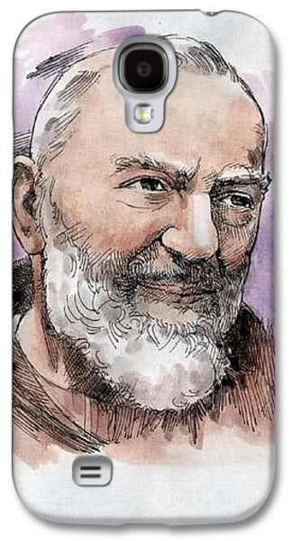 Etc. Drawings Galaxy S4 Cases - Padre Pio Galaxy S4 Case by Matteo TOTARO
