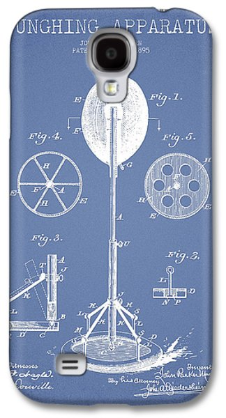 Boxing Digital Galaxy S4 Cases - Punching Apparatus Patent Drawing from1895 Galaxy S4 Case by Aged Pixel