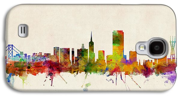 Towers Digital Galaxy S4 Cases - San Francisco City Skyline Galaxy S4 Case by Michael Tompsett