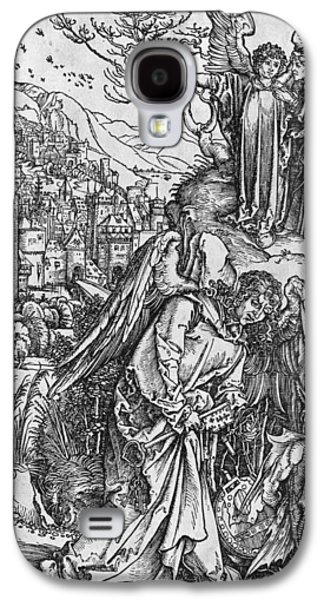 Male Drawings Galaxy S4 Cases - Scene from the Apocalypse Galaxy S4 Case by Albrecht Durer or Duerer