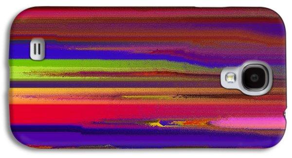 Abstract Digital Drawings Galaxy S4 Cases - Schreien Galaxy S4 Case by Sir Josef  Putsche