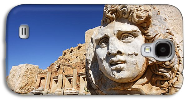 Sculpted Medusa Head At The Forum Of Severus At Leptis Magna In Libya Galaxy S4 Case by Robert Preston