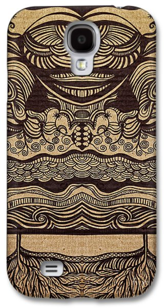 Torn Galaxy S4 Cases - Sharpie on Cardboard Galaxy S4 Case by HD Connelly
