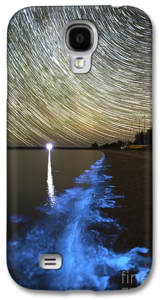 Plankton Galaxy S4 Cases - Star Trails And Bioluminescence Galaxy S4 Case by Philip Hart