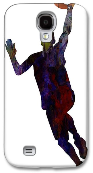 Basket Ball Game Galaxy S4 Cases - The Basket Player Galaxy S4 Case by Celestial Images