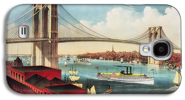 Suspension Drawings Galaxy S4 Cases - The Brooklyn Bridge Galaxy S4 Case by Mountain Dreams