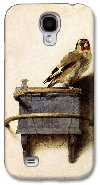 Nature Scene Drawings Galaxy S4 Cases - The Goldfinch Galaxy S4 Case by Celestial Images
