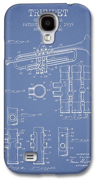 Trumpet Patent From 1939 - Light Blue Galaxy S4 Case by Aged Pixel