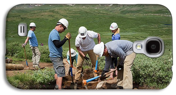 Volunteers Maintaining Hiking Trail Galaxy S4 Case by Jim West