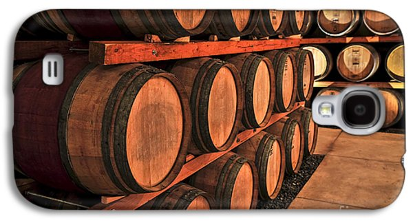 Wine Barrel Photographs Galaxy S4 Cases - Wine barrels Galaxy S4 Case by Elena Elisseeva
