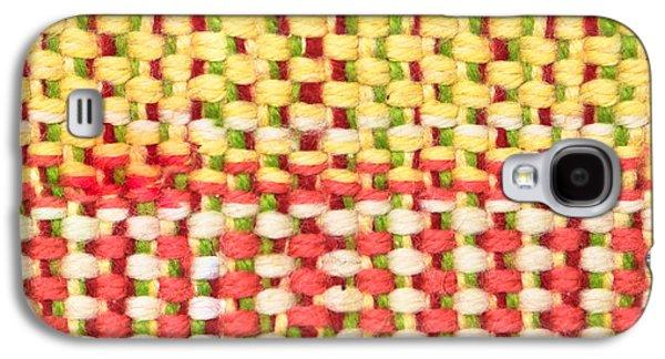 Stitch Galaxy S4 Cases - Wool pattern Galaxy S4 Case by Tom Gowanlock