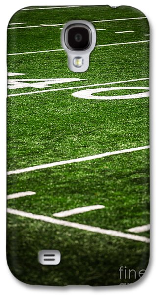 Sports Photographs Galaxy S4 Cases - 40 Yard Line on a Football Field Galaxy S4 Case by Paul Velgos