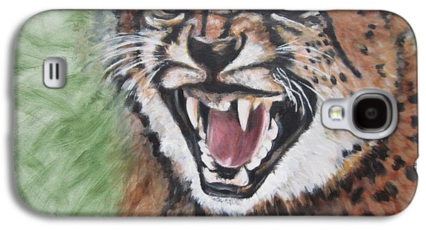 Growling Galaxy S4 Cases - 420 Growling Baby Cheetah Galaxy S4 Case by Sigrid Tune