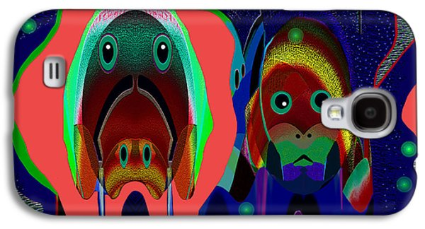Dog Greeting Cards Digital Galaxy S4 Cases - 427 - Doggies unique Galaxy S4 Case by Irmgard Schoendorf Welch