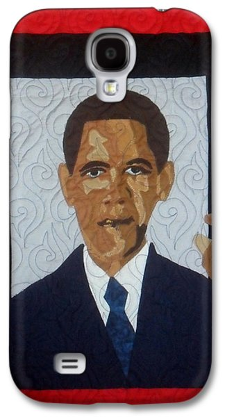 Barack Obama Tapestries - Textiles Galaxy S4 Cases - 44th President Galaxy S4 Case by Aisha Lumumba