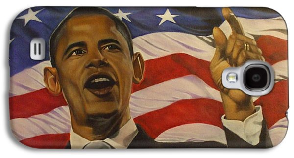 Barack Obama Mixed Media Galaxy S4 Cases - 44th President of Change  Galaxy S4 Case by Jamie Preston