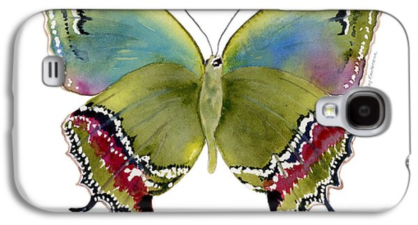 Moth Paintings Galaxy S4 Cases - 46 Evenus Teresina Butterfly Galaxy S4 Case by Amy Kirkpatrick
