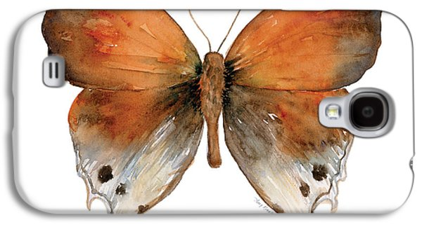 Moth Paintings Galaxy S4 Cases - 47 Mantoides Gama Butterfly Galaxy S4 Case by Amy Kirkpatrick