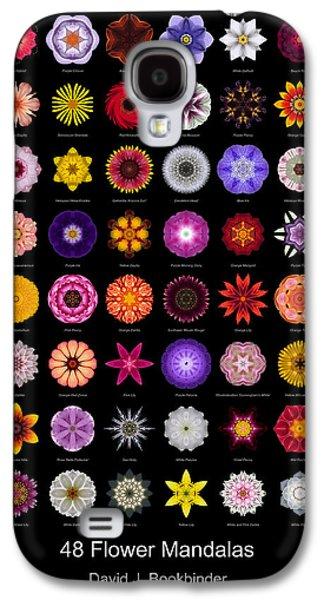 David J Bookbinder Galaxy S4 Cases - 48 Flower Mandalas Galaxy S4 Case by David J Bookbinder
