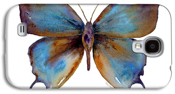 Moth Paintings Galaxy S4 Cases - 48 Manto Hypoleuca Butterfly Galaxy S4 Case by Amy Kirkpatrick