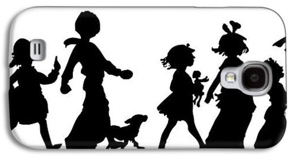 Dogs Digital Art Galaxy S4 Cases - 4th of July Childrens Parade Panorama Galaxy S4 Case by Rose Santuci-Sofranko