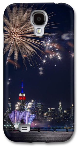 4th July Digital Galaxy S4 Cases - 4th of July fireworks Galaxy S4 Case by Eduard Moldoveanu