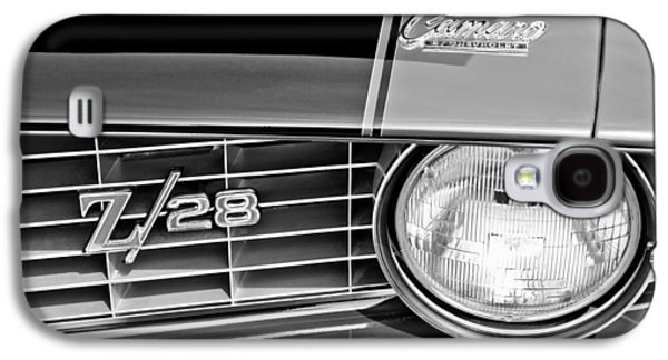 Transportation Photographs Galaxy S4 Cases - 1969 Chevrolet Camaro Z 28 Grille Emblem Galaxy S4 Case by Jill Reger