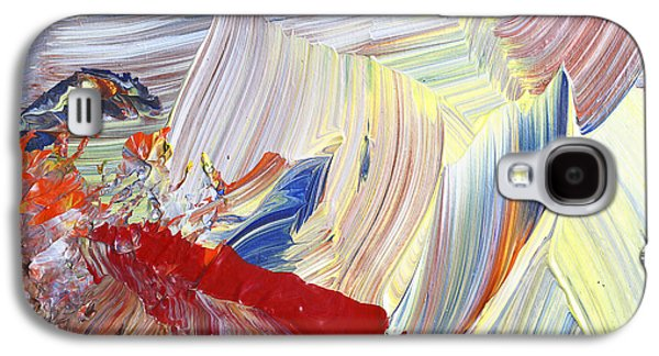 Pallet Knife Galaxy S4 Cases - Acrylic Abstract Painting Galaxy S4 Case by Donald  Erickson