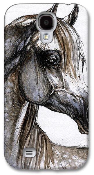 Head Drawings Galaxy S4 Cases - Arabian Horse Galaxy S4 Case by Angel  Tarantella