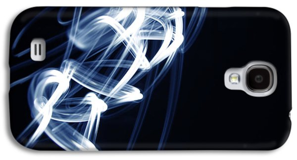 Swirly Galaxy S4 Cases - Blue lines  Galaxy S4 Case by Les Cunliffe